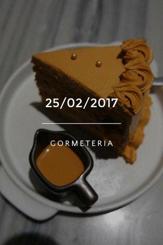 25/02/2017 GORMETERIA