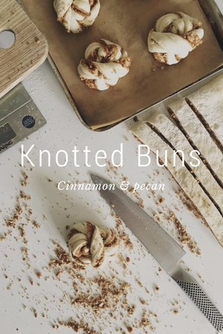 Knotted Buns Cinnamon & pecan