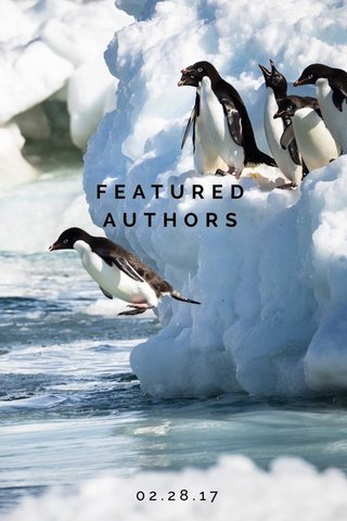 FEATURED AUTHORS 02.28.17