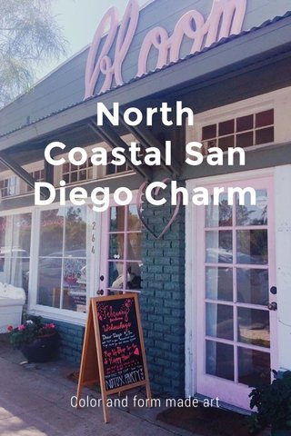 North Coastal San Diego Charm Color and form made art