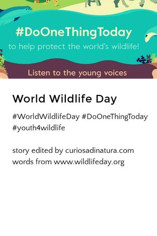 World Wildlife Day 2017
