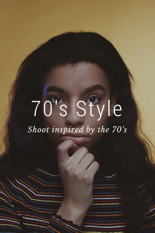 70's Style Shoot inspired by the 70's