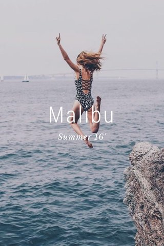 Malibu Summer 16'