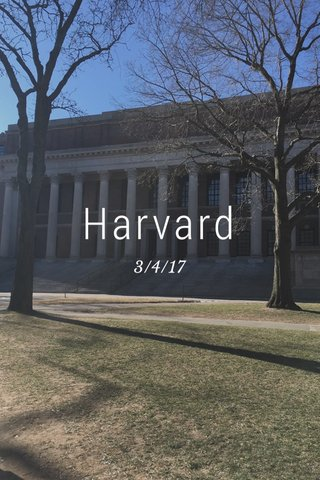 Harvard 3/4/17