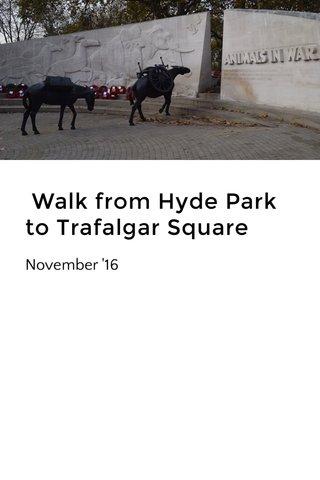 Walk from Hyde Park to Trafalgar Square