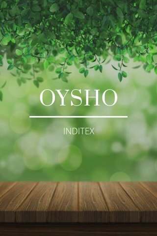 OYSHO INDITEX
