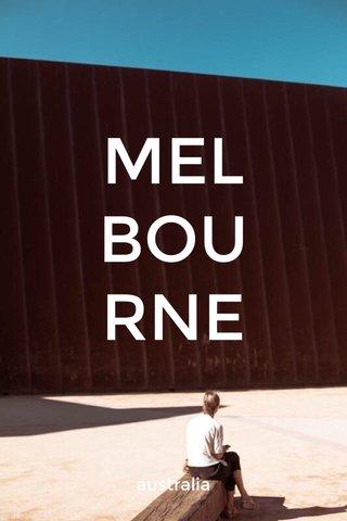 MEL BOU RNE australia