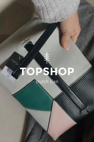 TOPSHOP clutch zian