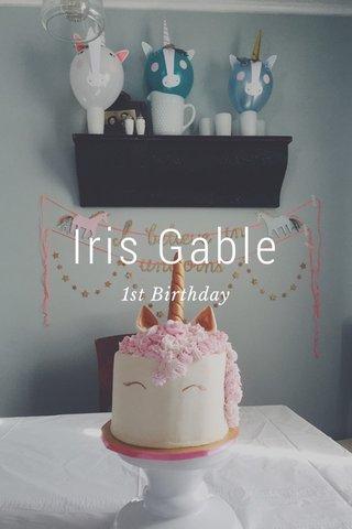 Iris Gable 1st Birthday