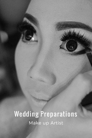 Wedding Preparations Make up Artist