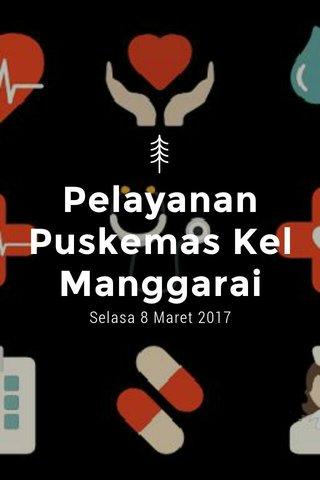Pelayanan Puskemas Kel Manggarai Selasa 8 Maret 2017