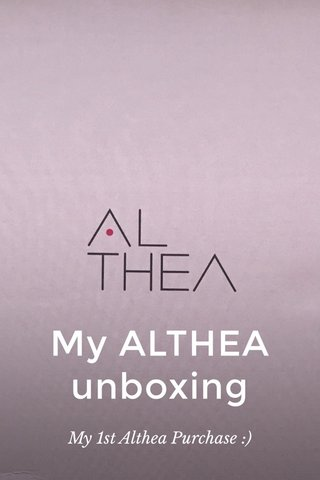 My ALTHEA unboxing My 1st Althea Purchase :)