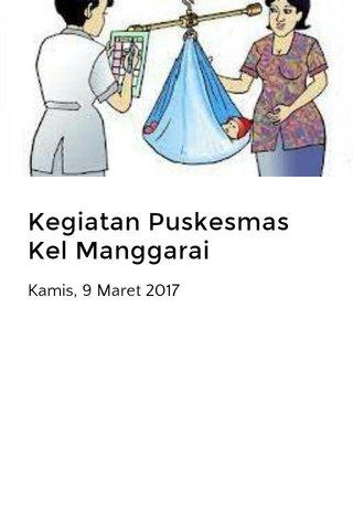 Kegiatan Puskesmas Kel Manggarai