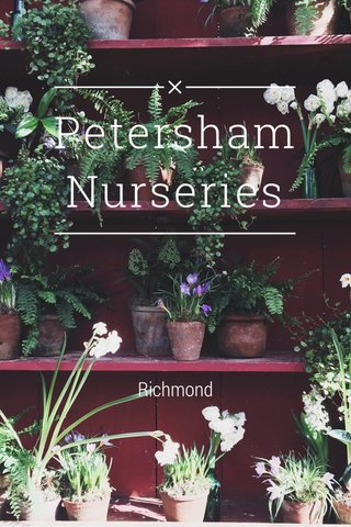 Petersham Nurseries Richmond