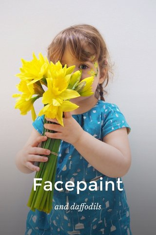 Facepaint and daffodils