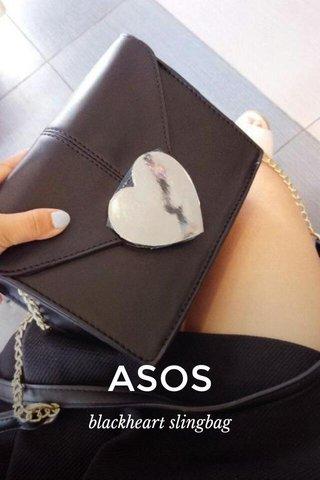 ASOS blackheart slingbag