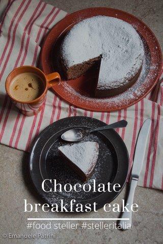 Chocolate breakfast cake #food steller #stelleritalia